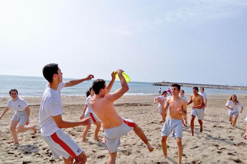 Educación Física en la playa