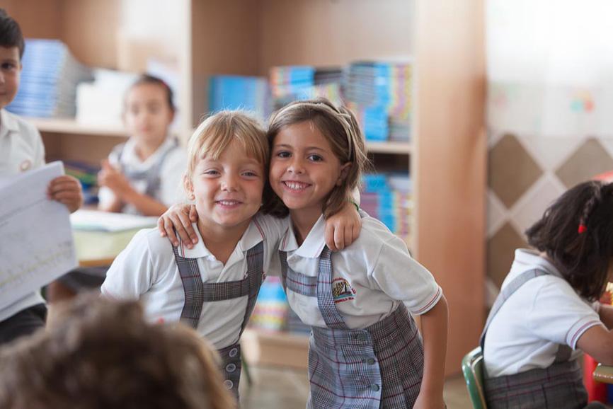 Alumnas de infantil del Colegio San Francisco de Asís