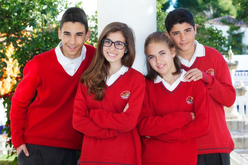 Grupo de alumnos del Colegio San Francisco de Asís