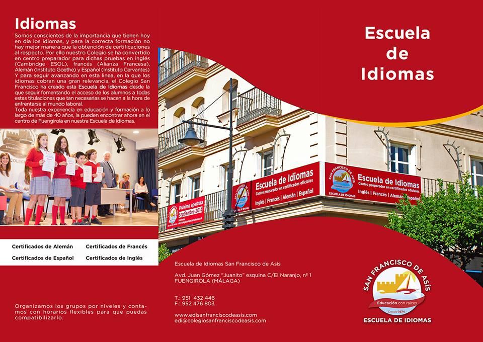 folleto Escuela de Idiomas San Francisco de Asís 1