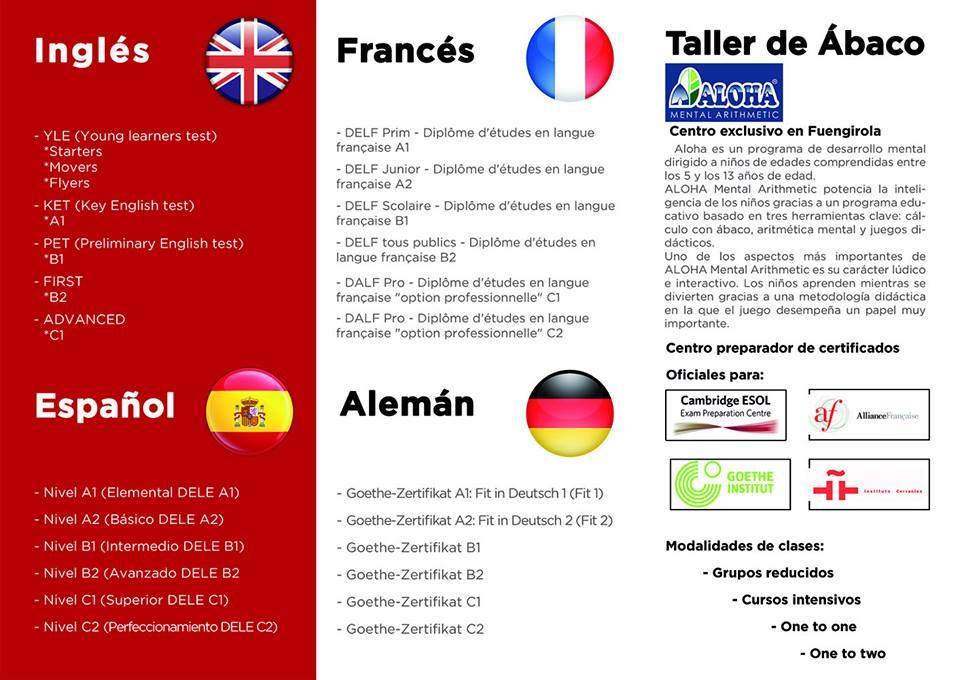 folleto Escuela de Idiomas San Francisco de Asís 2