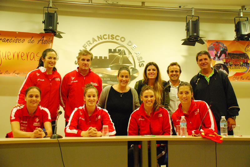 Selección Española de Balonmano en el Colegio