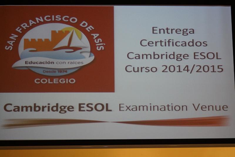 Entrega de Certificados de Cambridge