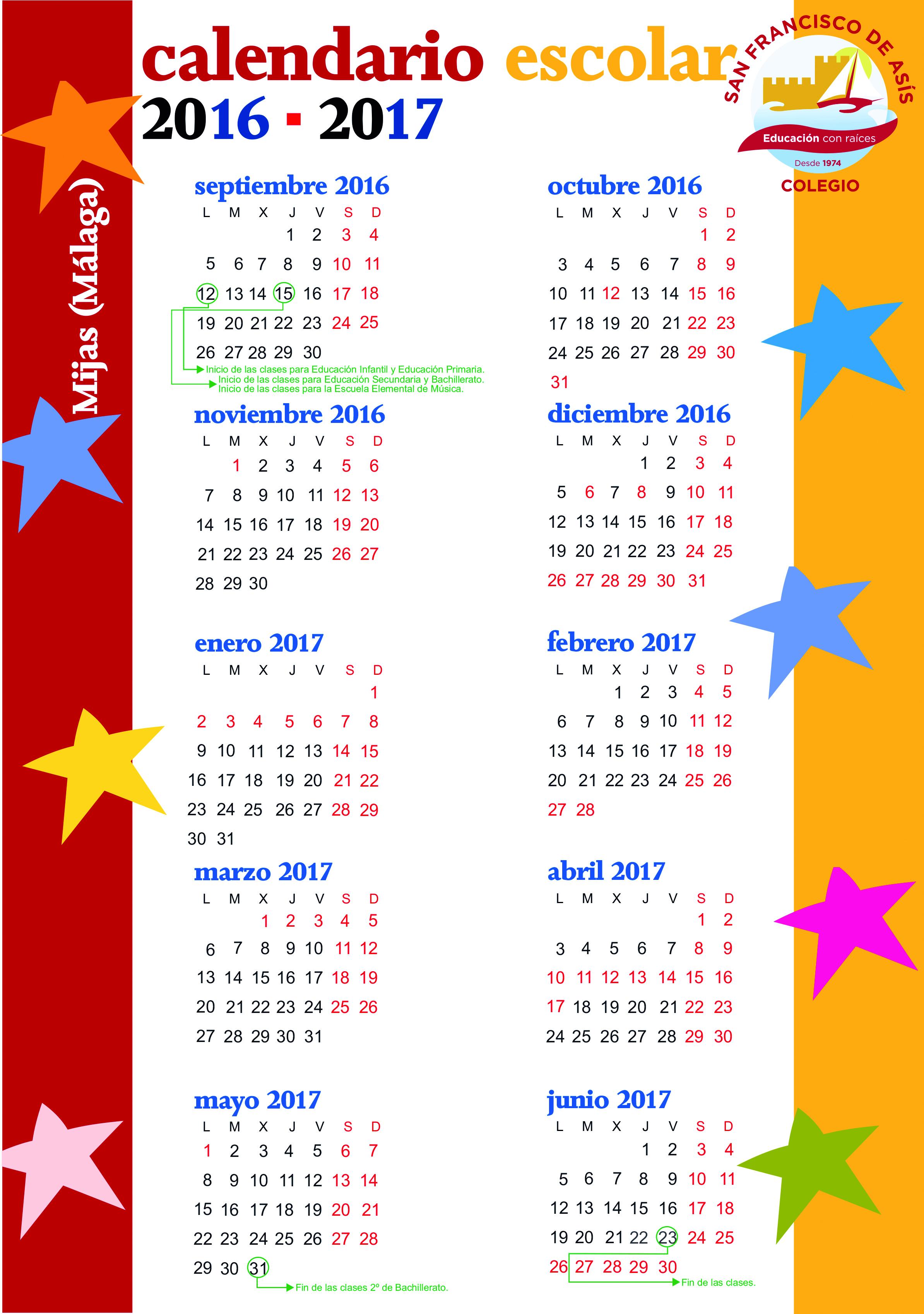 Calendario 1974.Calendario Panama 2017 Calendar