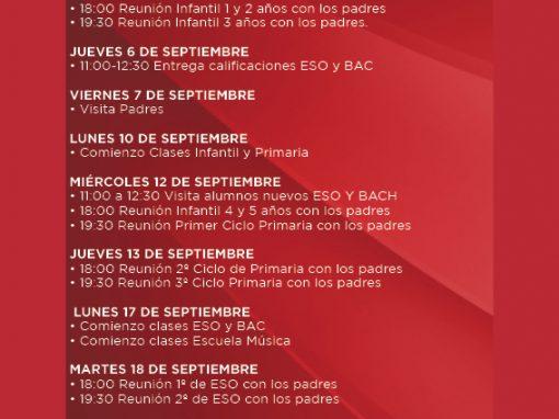Boletín actividades septiembre 2018