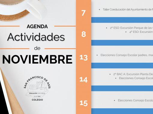 Agenda mes de Noviembre